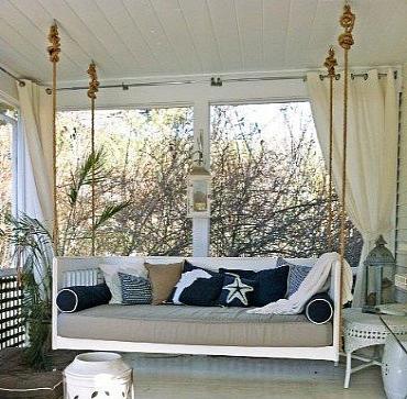 Cottage beds hanging porch beds swinging porch beds atlanta