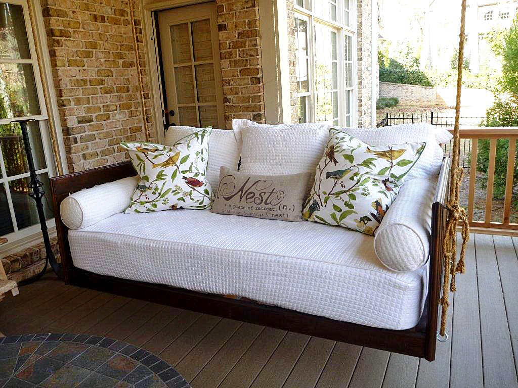 Hanging Porch Beds & Swinging Porch Beds