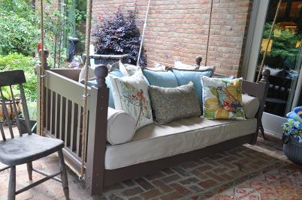 swinging porch beds